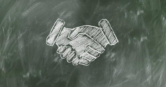 握手, 团队精神, 工作人员, 团队, 板, 团队协作, 行政, 合作, 凝聚力